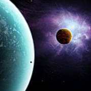 Two Planets Born From The Same Star Poster