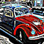 Two Toned Vw Beetle Poster by Samuel Sheats