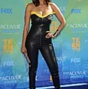 Tyra Banks Wearing A Thierry Mugler Poster