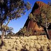 Uluru, Ayres Rock Against A Clear Blue Poster