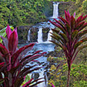 Umauma Falls Big Island Hawaii Poster