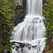 Undine Falls Yellowstone National Park Poster