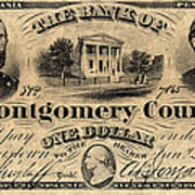 Union Banknote, 1865 Poster