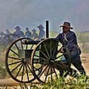 Union Gatling Gun Fire Poster
