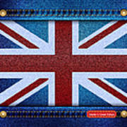 Union Jack Denim Poster