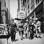 Union Men Picketing Macys Department Poster by Everett