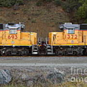 Union Pacific Locomotive Trains . 7d10573 Poster by Wingsdomain Art and Photography
