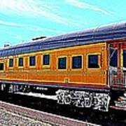 Union Pacific Observation Car In Hdr Poster
