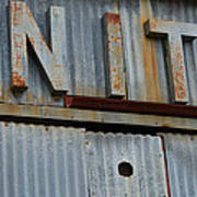 Unite Weathered Sign Poster
