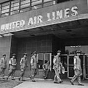 United Air Lines Uniformed Pilots Form Poster