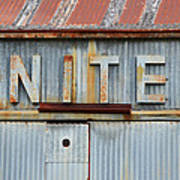United Rusted Metal Sign Poster