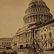 United States Capitol Building In 1863 Poster by Everett