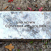 Unknown Confederate Soldier Poster by Renee Trenholm