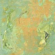 Untitled Abstract - Caramel Teal Poster