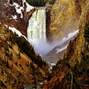 Upper Yellowstone Falls Poster