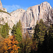 Upper Yosemite Falls In Autumn Poster