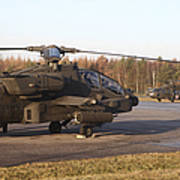 U.s. Army Helicopters At The Letzlingen Poster