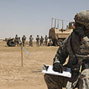 U.s. Army Radio Operator Communicates Poster
