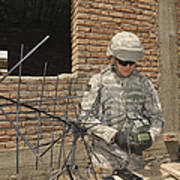 U.s. Army Soldier Configures Poster