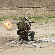 U.s. Army Soldier Fires Poster