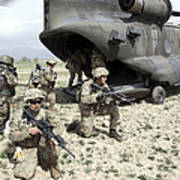 U.s. Army Soldiers Board A Ch-47 Poster