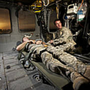 U.s. Army Specialist Practices Giving Poster