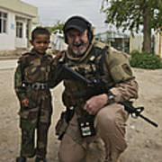 U.s. Contractor Poses For A Picture Poster