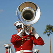 U.s. Marine Corps Drum And Bugle Corps Poster