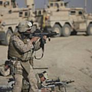U.s. Marine Fires A G36k Carbine Poster