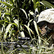 U.s. Marine Maintains Security Poster