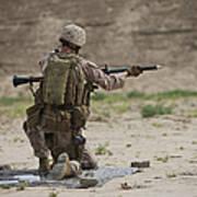 U.s. Marine Prepares A Fragmentation Poster