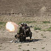 U.s. Marines Fire A Rocket-propelled Poster