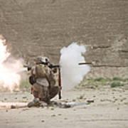 U.s. Marines Fire A Rpg-7 Grenade Poster