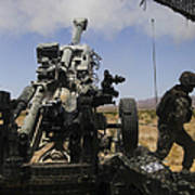 U.s. Marines Fire An M777 Howitzer Poster
