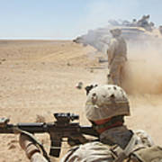 U.s. Marines Fire Several Poster