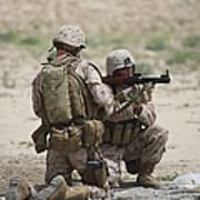 U.s. Marines Prepare A Fragmentation Poster