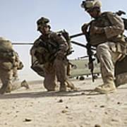 U.s. Marines Unloading Poster