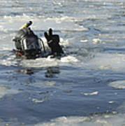 U.s. Navy Diver Signals He Is Okay Poster