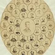U.s. Senators Who Voted Aye On The 13th Poster by Everett