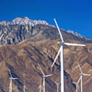 Usa, California, Palm Springs, Wind Farm Poster