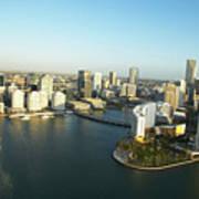 Usa, Florida, Miami, Downtown, Aerial View Poster