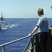 Uscgc Thetis Approaches A German Combat Poster
