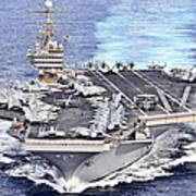 Uss Abraham Lincoln Transits Poster