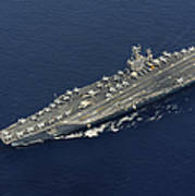 Uss Abraham Lincoln Transits The Indian Poster