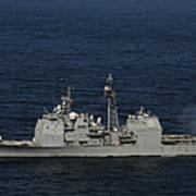 Uss Bunker Hill Fires Two Mk-45 5 Poster