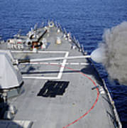 Uss Halsey Fires Its Mk-45 Poster