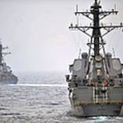 Uss Porter And Uss Nitze Participate Poster
