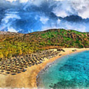 Vai Beach Poster