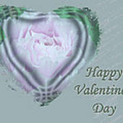 Valentine Pink Tree Peony Poster