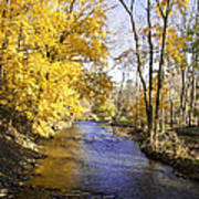 Valley Forge Creek In Autumn Poster